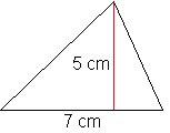 driehoek oppervlakte